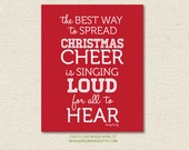 8x10 Buddy The Elf Christmas Cheer Quote Print CLEARANCE