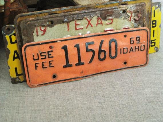 Vintage Licences Plate Idaho 1969 - Odd Bits / Assemblage