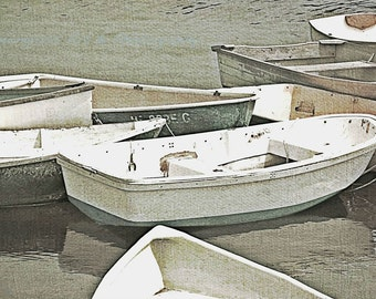 Little Boats, Maine Photography, Fine Art Print, Rowboats, Skiffs, Dinghy, Cove, Ocean, Rustic, Nautical Home Decor, Coastal Wall Art