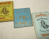 Vintage ephemera / sewing notions - 3 vintage/antique packets of needles