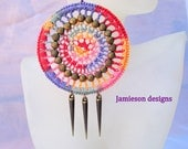 Medallion Studded Crochet Earrings- Passionista