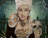 VooDoo Queen Giclee Fine Art Paper PRINT 20x24