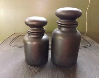 set of 2 apothacary jars