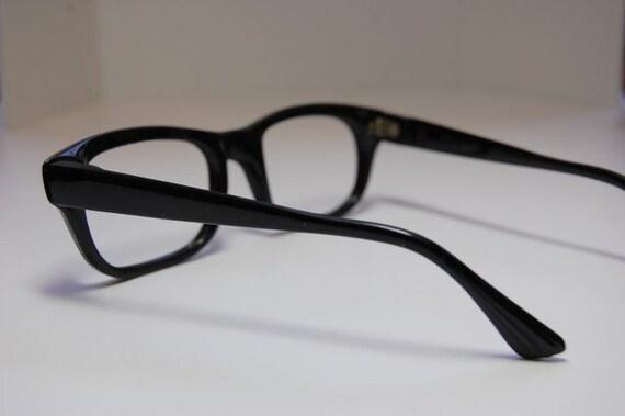 Eyeglass Frames Made In France : Items similar to Vintage 1950s Mens Black Nylon Eyeglass ...