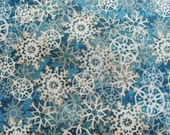 Clustered Flakes - Blue - Watermark Style - Susan Winget - Cotton Fabric - 1/2 yard