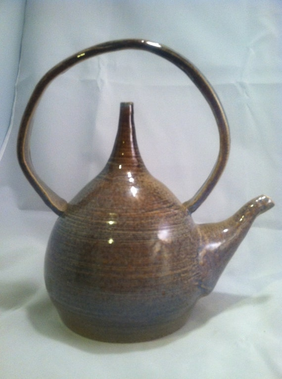 Blue and Brown Trick Teapot
