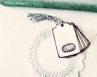 Halloween Naughty Pumpkins Trick or Treat Favor Bag Tags Hang Tags