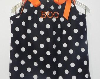 BOO Halloween Pillowcase Dress