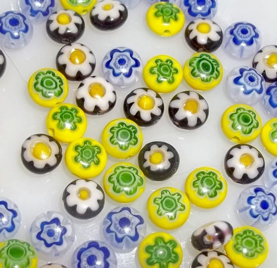 Millefiori Glass Beads (50 pieces)