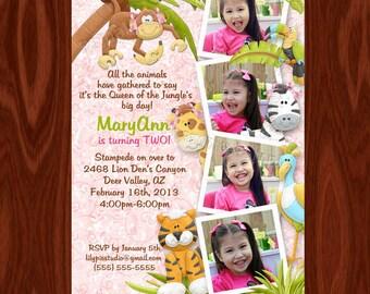 Queen of the Jungle Photo Birthday Invitation PRINTABLE FILE