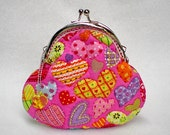 Colorful Heartbeat Pink Quilted Purse