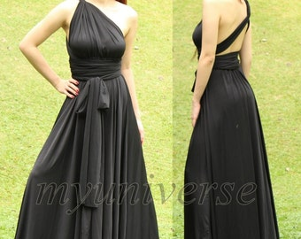 Convertible Wrap Formal Dress Black Infinity Dress Maxi Dress Evening Plus Size Clothing Long Dress