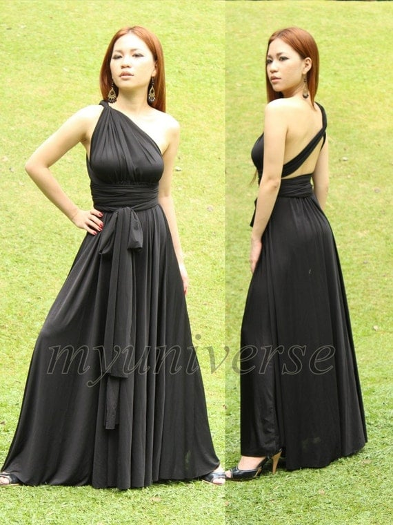 Convertible Wrap Formal Dress Black Infinity Dress Maxi Dress