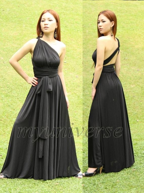 Convertible Wrap Formal Dress Black Infinity Dress Maxi Dress Evening Plus Size Clothing Long Dress