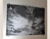 grand ciel / demi-teinte grand format d'impression / 24 x 36 affiche noir et blanc