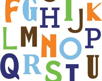Alphabet ABC print