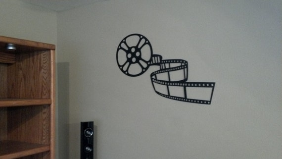 Home Theater Decor Metal Wall Art ~ Home theater decor movie reel and film by sayitallonthewall