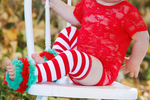 Christmas leg warmer holiday leg warmers red and white striped leg