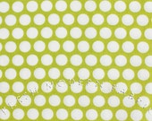 Fat Quarter Reverse Dots in Lime Green, Mod Basics, Birch Fabrics, 100% Certified Organic Cotton