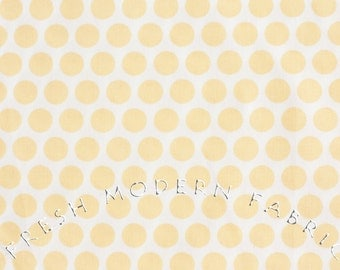 Dots in Yellow, Mod Basics, Birch Fabrics, 100% Certified Organic Cotton
