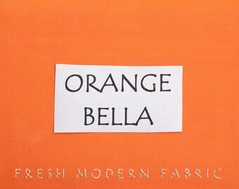 One Yard Orange Bella Cotton Solid Fabric from Moda, 9900 80