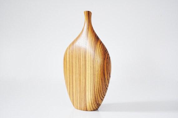Mid-Century Modern Wooden Bud Vase