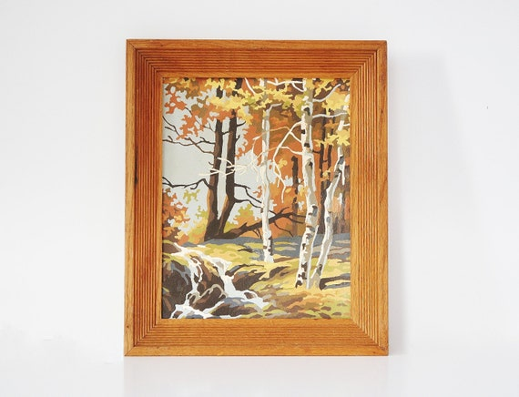 Autumn Paint by Number - Framed