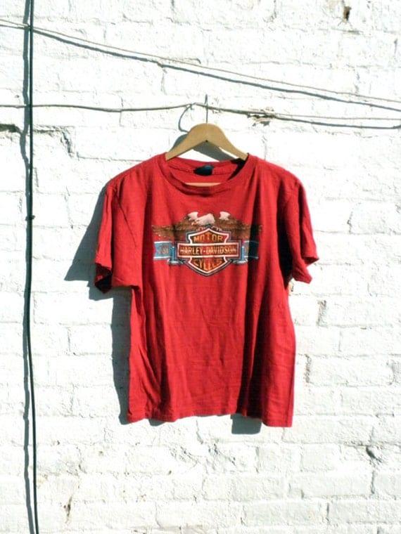 TACOMA WA Harley Vintage Tshirt 1980s