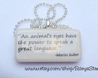 An Animals Eyes Have The Power To Speak A Great Language Game Tile Pendant