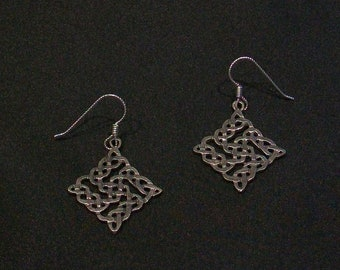 Celtic Knot Earrings with Sterling Silver Earwires