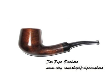 FREE Shipping Smoking Pipe. Tobacco Pipe Cherry-Root Wood Hand Carved/ Wooden Tobacco Smoking Pipes 217 (Midi)