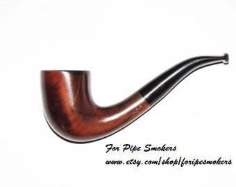 TOP Quality Smoking Pipe. Tobacco Pipe Cherry-Root Wood Hand Carved/ Wooden Tobacco Smoking Pipes 231 (Midi)