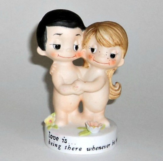 Love Is ...Being There Whenever He Needs You Figurine By Kim 1972