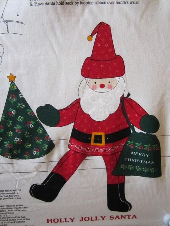 Craft Panel Holly Jolly Santa VIP Fabrics