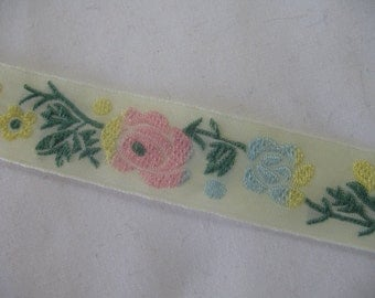 2 yard  STUNNING ribbon embroidered