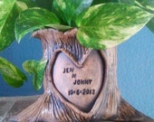 Personalized Tree Stump Planter