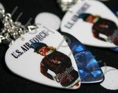 US Air Force Girl - Blue, Silver & Stars Guitar Pick Earrings