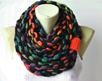 scarf, infinity chain scarf,  lariat  scarf,