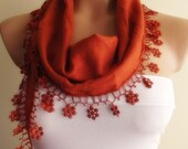 New Design Pashmina scarf with lace christmas gift newyear