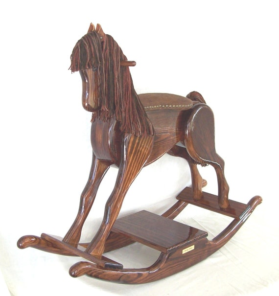 Handcrafted Wooden Rocking Horse By Andrewsrockinghorse On