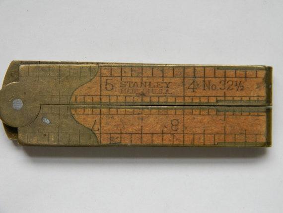 Antique STANLEY BOXWOOD No. 32 1/2 Folding Caliper Rule