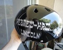 Roller Derby / helmet name / emergency name / vinyl decal / EMT / name plate / player number / Safety / CERT