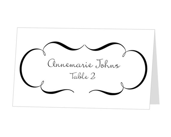 Avery place card template instant download escort card by 43lucy for Avery printable place cards