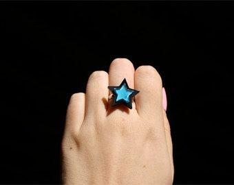 Custom Star Ring (laser cut acrylic)