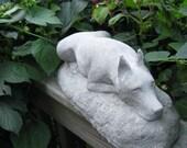 Concrete Great Dane Dog Statue or Monument
