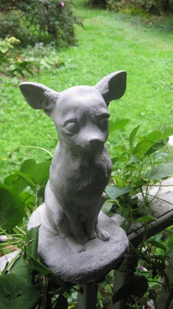 Concrete Chihuahua Dog Statue