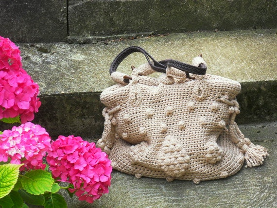 Crochet Bag Pattern crochet tote bag with bobbles pattern