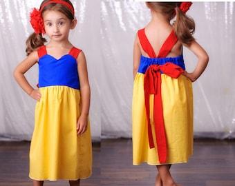 Snow White Dress- Disney Princess Dress-Girl, Toddler, Child, Size 2t-5t-Halloween Costume Pre-Order