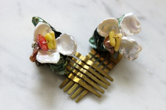 Pair of Single Orchid Combs (25% off)