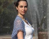 Summer Short Shrug, Short Hand Knit Bolero By Solandia/ Lace Shrug/ Lace Bolero/ Women Fashion Accessories